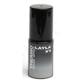Nagellack Layla Thermo Colour 08- BLACK TO GREY