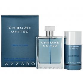 Azzaro Chrome United Giftset Edt 100ml + Deodorant Stick 75ml